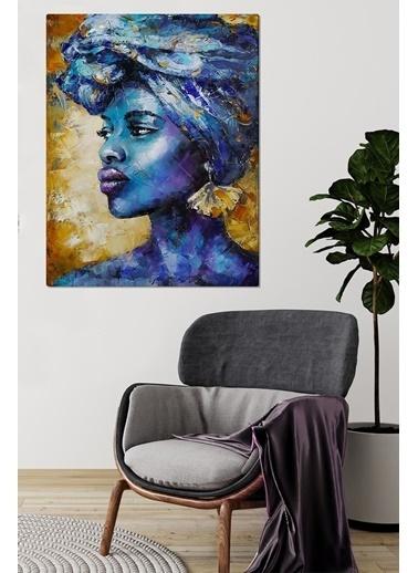 MarkaEv Canvas Afrikalı Kadın Portre Tablo 0055 Renkli